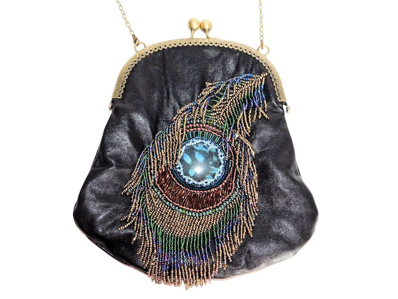 bead embroidered bag